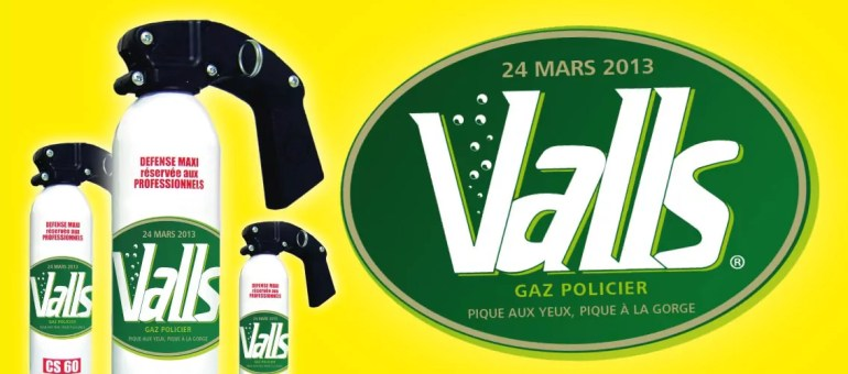 Les anti-mariage gay à Lyon font de Manuel Valls une eau… gazeuse d'enfants