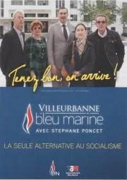 Affiche du FN Villeurbanne pour les municipales 2014