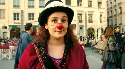 Mathilde, clown lyonnaise, est intermittente depuis 11 ans. Crédits : Camille ROMANO/Rue89Lyon