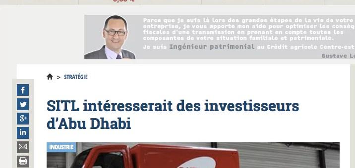La reprise de SITL ex-FagorBrandt intéresserait des investisseurs d'Abu Dhabi