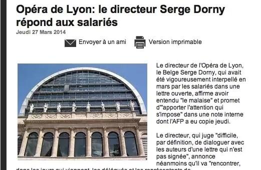 Crise à l'Opéra de Lyon : Serge Dorny répond aux salariés