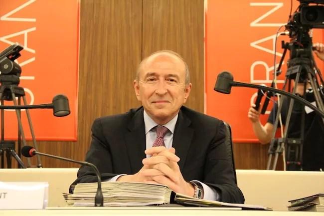 Gérard Collomb lors de sa réélection à la présidence du Grand Lyon. © Pierre Maier/Rue89Lyon.