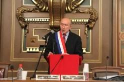 Gérard Collomb a-t-il une écharpe neuve pour son troisième mandat ? Crédit : PierreMaier/Rue89Lyon.