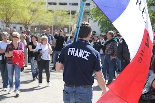 A la manif lyonnaise «Jour de Colère», Alexandre Gabriac et ses nationalistes en force