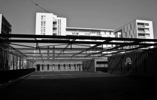 """Le quartier Confluence, l'un des pôles numériques dans la candidature de Lyon au label """"French Tech"""". Crédit : Hugo Lautissier/Rue89Lyon."""