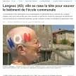 Une femme de 77 ans se rase la tête pour «sauver le patrimoine» de Langeac