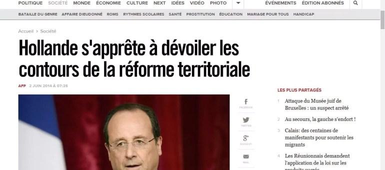 Réforme territoriale de François Hollande : on passe de 22 à 12 régions ?