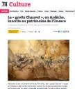 En Ardèche, la «grotte Chauvet» inscrite au patrimoine mondial de l'UNESCO