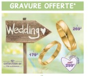 "Capture d'écran du catalogue promotionnel ""wedding"" d'Auchan."