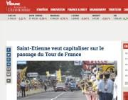 Vigie Tour de France à Saint-Etienne.