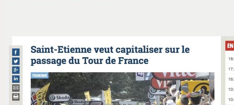 Saint-Etienne veut capitaliser sur le Tour de France