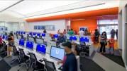 Avec ses rangées d'ordinateurs, la bibliotech du Texas semble bien loin des bibliothèques traditionnelles. Capture d'écran du site 11alive.com