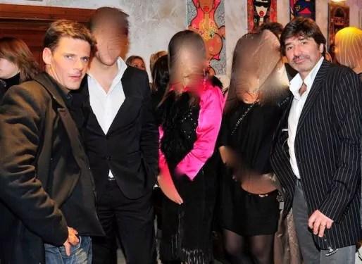 Michel Neyret en compagnie de David Metaxas au cours d'une soirée lyonnaise. Photo Facebook.