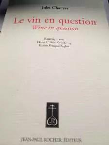 Couverture de « Le vin en Question » aux éditions Jean-Paul Rocher.