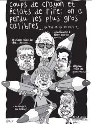 Dessin de Patrickk Fiche dans les Potins d'Angele du 15 janvier en hommage à Charlie Hebdo.