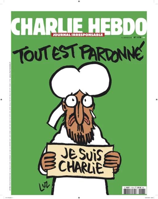 La Une de Charlie Hebdo du 14 janvier 2015.