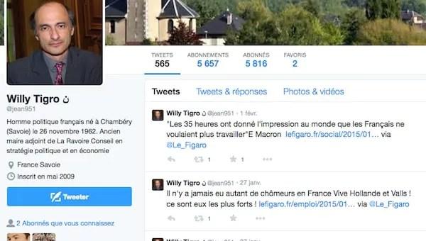 Sur Twitter, Etienne se fait usurper sa Tête