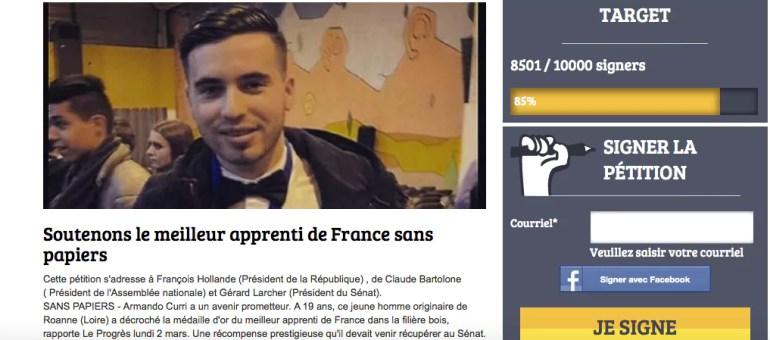 Une pétition pour Armando, jeune albanais meilleur apprenti de France