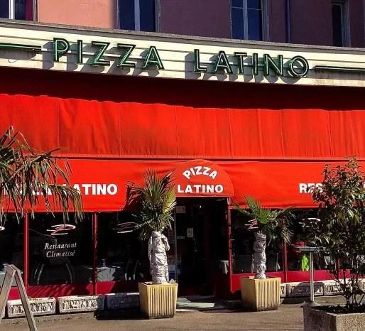 """Devanture du """"Pizza Latino"""", rue Mérieux"""