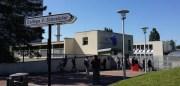 L'entrée du collège de la Duchère. ©LB/Rue89Lyon