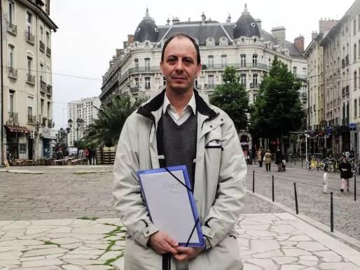 Alain Denoyelle (Réseau Citoyen), adjoint aux affaires sociales et vice-président du CCAS de Grenoble. Crédit : VG/Rue89Lyon