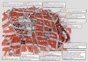 """Plan de la visite guidée des sites """"militants historiques"""" des pentes de la Croix-Rousse par Papy@art - https://papyartblog.wordpress.com/ dessin d'Ivan Brun"""