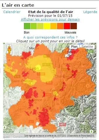 Capture d'écran carte air-Rhône-Alpes