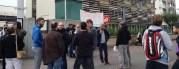 Les profs grévistes du lycée professionnel Tony Garnier au premier jour de leur grève, le 5 mai. ©LB/Rue89Lyon