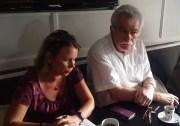 Cécile Cukierman et André Chasseigne lors de leur conférence de presse de rentrée, le 28 août. ©LB/Rue89Lyon
