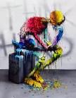 L'artiste lyonnais Brusk, l'une des valeurs sûres des street artistes de France