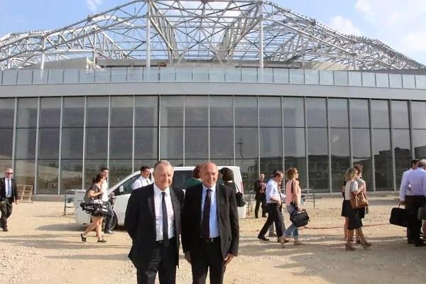 Jean-Michel Aulas devant le grand stade © LM/Rue89Lyon