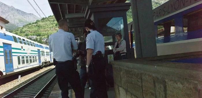 A Modane, la frontière franco-italienne déjà fermée aux migrants