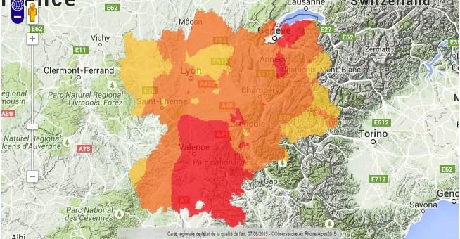 Les températures s'affolent et la pollution à l'ozone revient en Rhône-Alpes