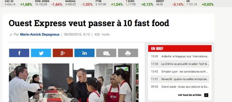 La branche fast-food de l'empire Bocuse veut s'étendre en France