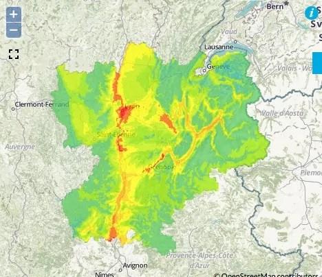 Qualité de l'air en Rhône-Alpes pour le 17 novembre. Capture d'écran d'Air Rhône-Alpes.