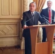Le préfet de la région Auvergne-Rhône-Alpes et du Rhône, Michel Delpuech lors des voeux à la presse le 13 janvier 2016. ©LB/Rue89Lyon