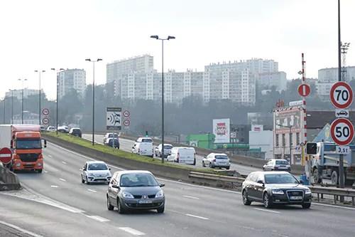 L'autoroute A7 au niveau de la Confluence à Lyon ©Thomas Francillard/Rue89Lyon