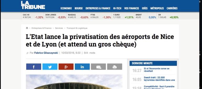 A qui l'aéroport de Lyon va-t-il être cédé ?