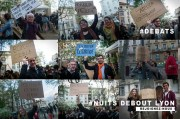 """Visuel présentant quelques groupes de travail de """"Nuit Debout Lyon"""" par le photographe Henri Granjean . CC-BY-SA Nuit Debout Lyon"""