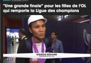 Vidéo de la victoire de l'équipe féminine de l'OL sur LCI. Capture d'écran.