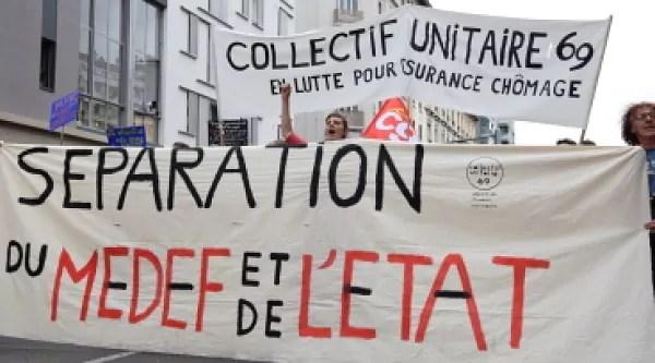 Banderole des intermittents et précaires.©SS Rue89Lyon