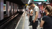 Station de métro à Lyon. crédit Romain Chevalier/Rue89Lyon
