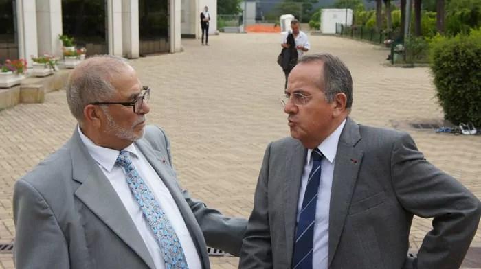 Michel Delpuech, le préfet du Rhône et Kamel Kabtane, recteur de la grande mosquée de Lyon. Crédit Romain Chevalier