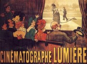 Affiche du Cinématographe Lumière. ©WikimediaCommons Auteur : Marcellin Auzolle