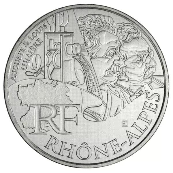 La pièce de 10€ à l'effigie des frères Lumière date de 2012. ©lamonnaiedelapiece.com