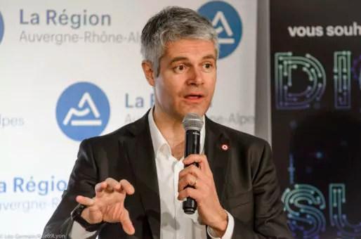 Laurent Wauquiez au Digital Summit le 30 janvier 2017 à Lyon. ©Léo Germain/Rue89Lyon