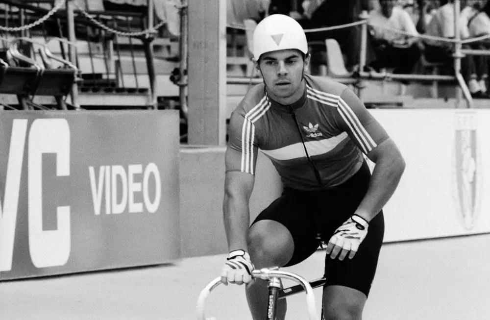 Le cycliste Denis Lemyre lors des Championnats du monde 1989 ©Creative Commons