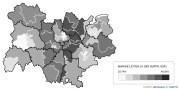 Carte vote FN par circonscriptions en Auvergne RHône Alpes