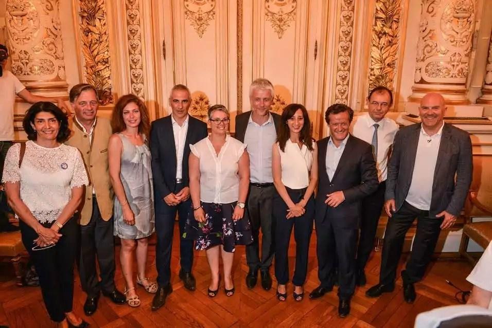 Dix des douze députés LREM au 2ème tour des législatives à la préfecture du Rhône le 18 juin 2017. ©Éric Soudan