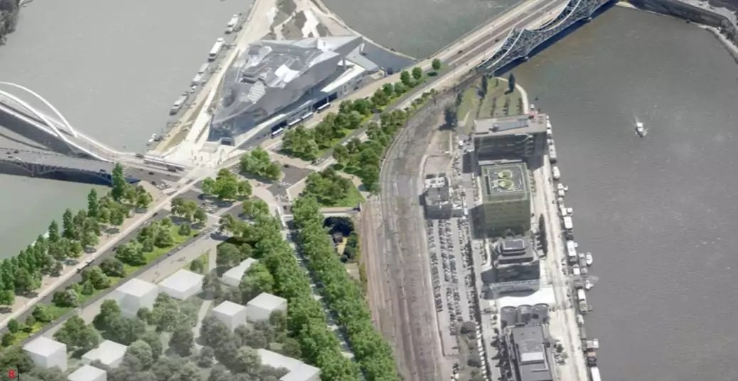 En 2030, la fin de l'autopont à la Confluence. Source : Métropole de Lyon